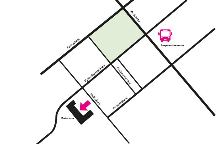 HubDatariina etätyötila kartta