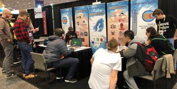 Game Campsin messustandi Game Developers Conference tapahtumassa