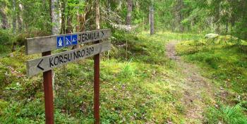 Salpalinjan opasteita, kuva: Retkipaikka.fi