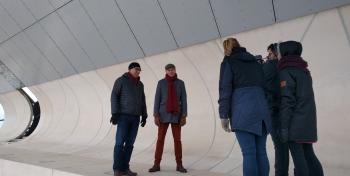 Videokuvaukset Vellamon katolla kuva: Ellen De Jong