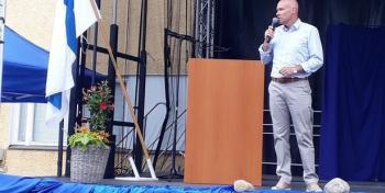 David Lindström Hapanvellijuhlassa Virolahdella