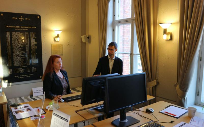 Hamina Nina Nylund ja Esa Partanen
