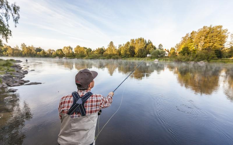 Kalastaja joella