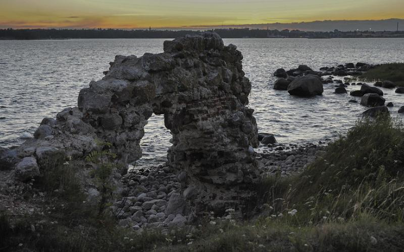 Fort Slavan linnoituksen raunioita