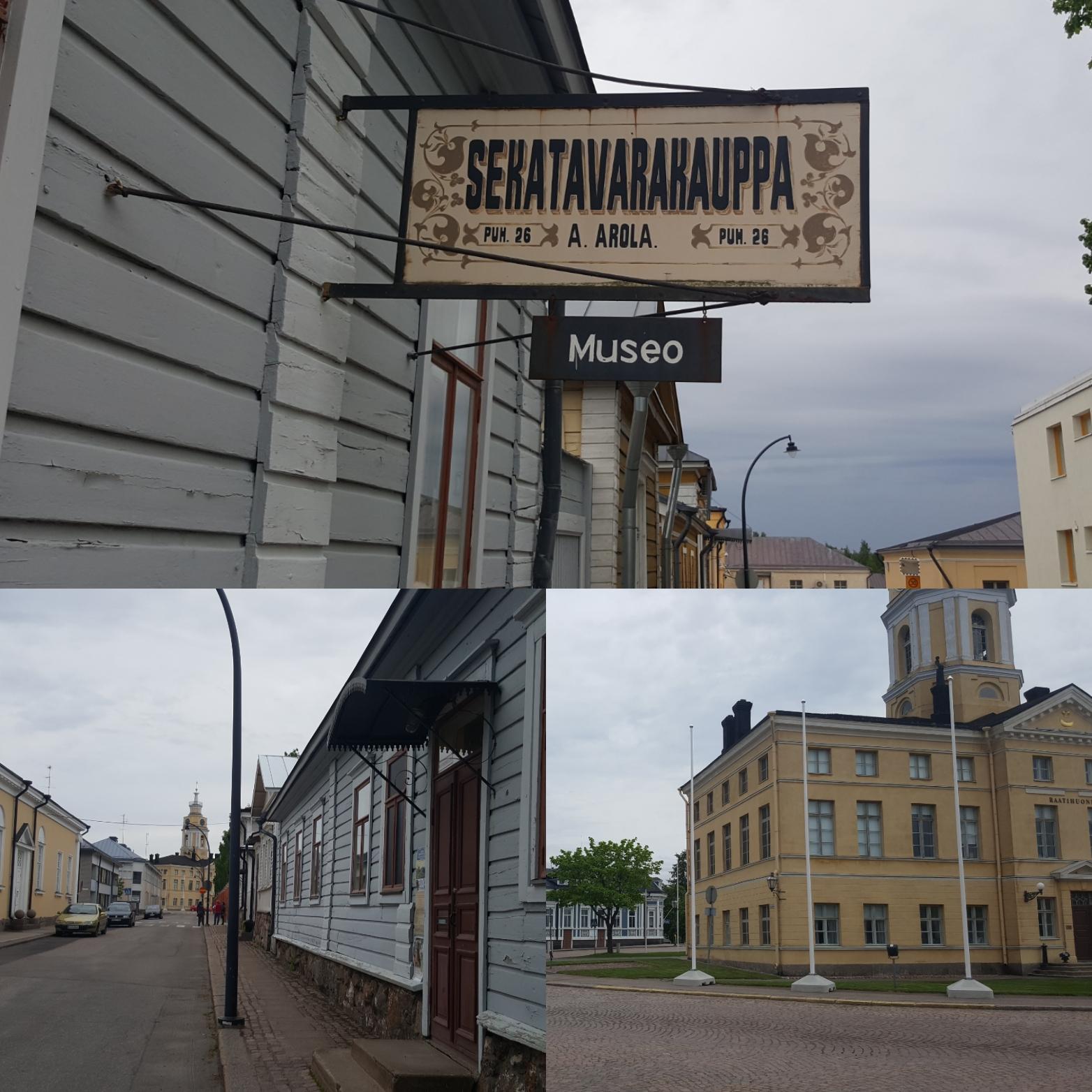 Kauppiaantalomuseo ja vanhaa keskustaa