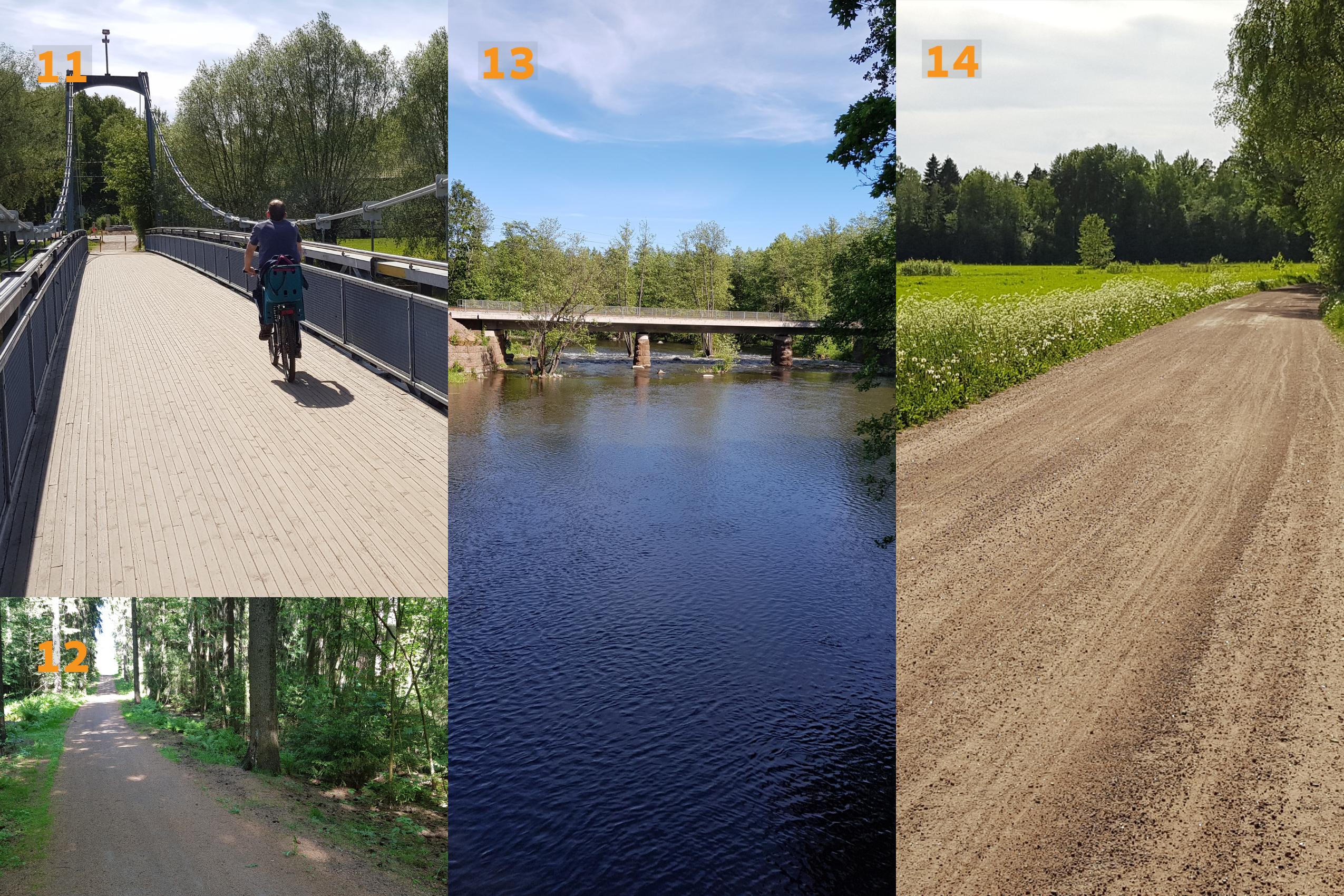 Kymijoen koskikierros pyöräillen