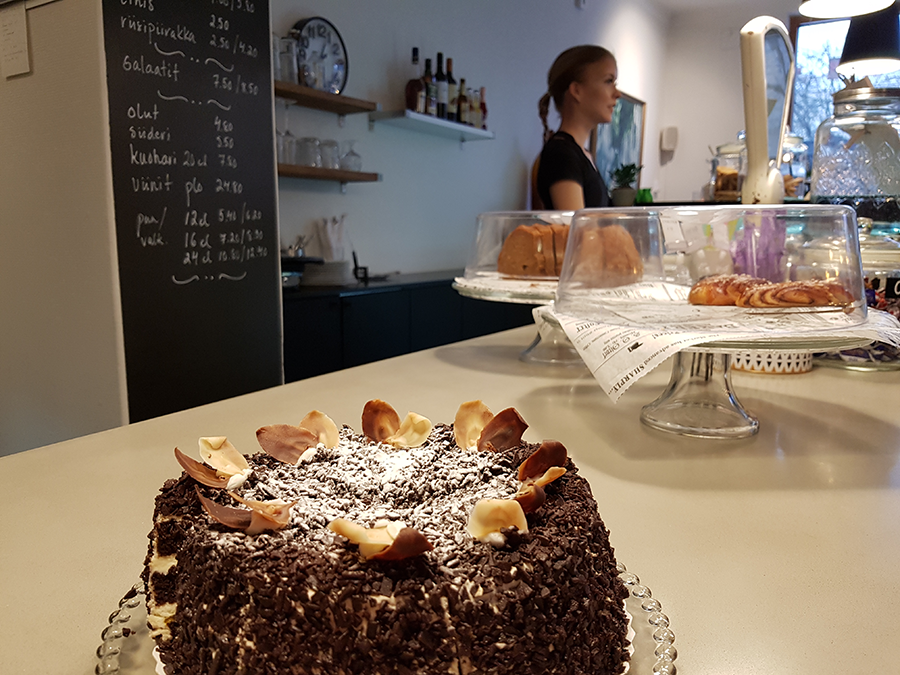 Pitko kahvila Kotkassa Kuvaaja:Marianne Mokkala-Räty