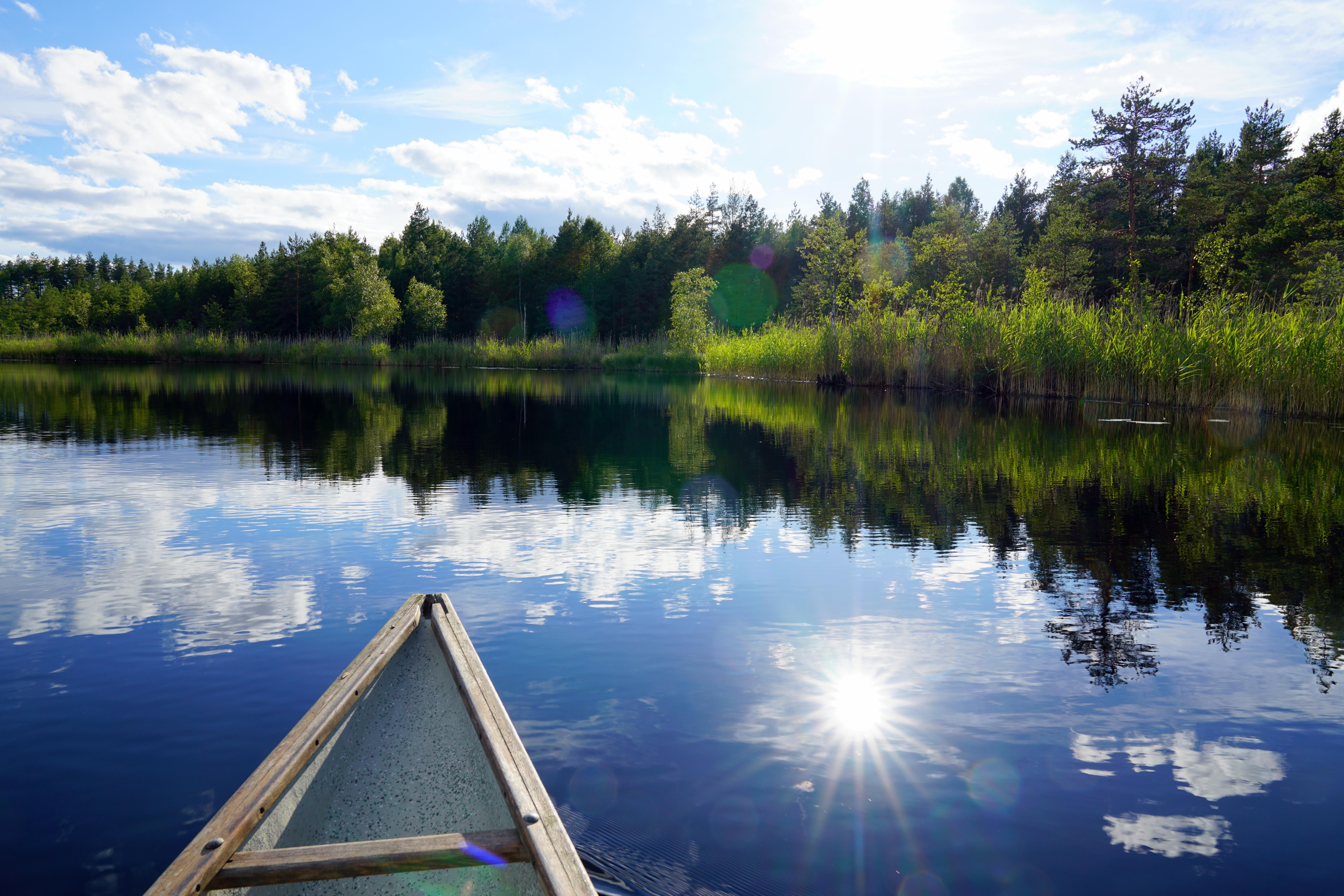 Jokimasema kanootista