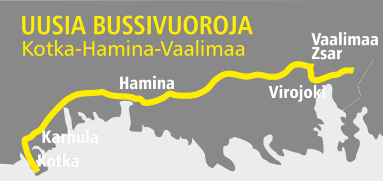 Bussilinjat Kotka-Hamina-Vaalimaa