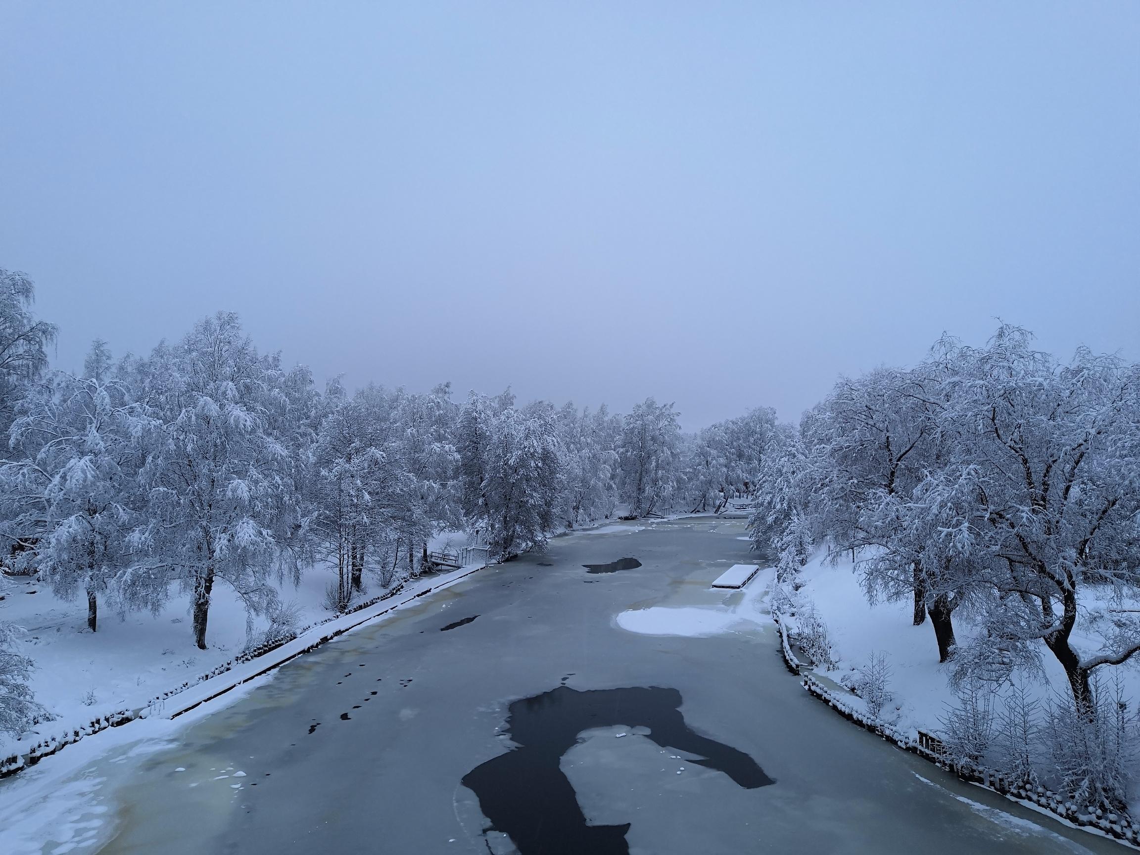 Karhulan Jokipuisto talvella