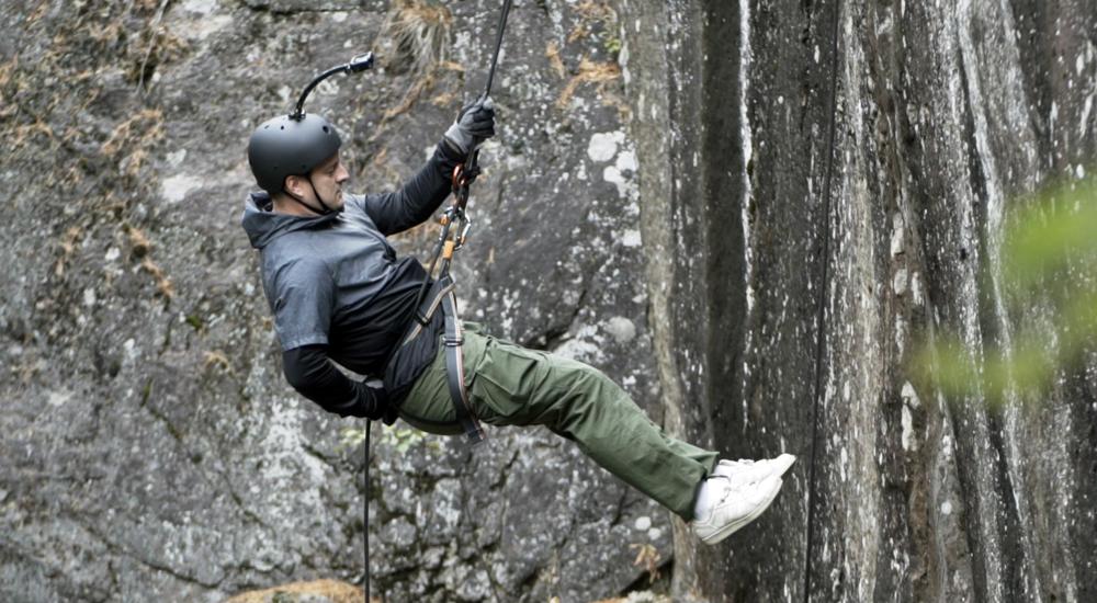Kalliolaskeutumista Virolahdella