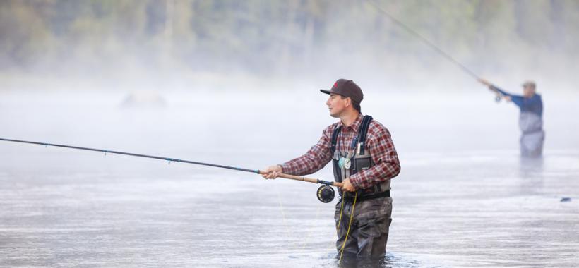 Kalastaja Kymijoella