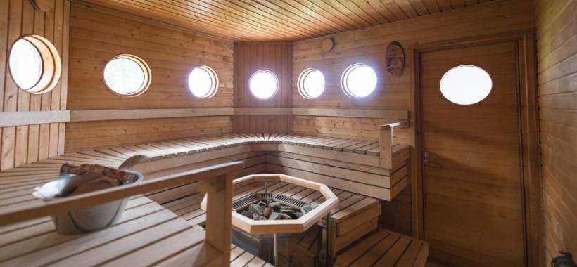 Vimpa islands, sauna
