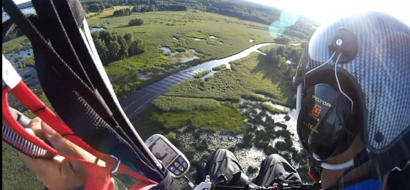 Tandemelämys - parachute glide   Kotka-Hamina Region