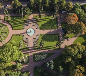 Sibeliuksenpuisto Kotka, ilmakuva