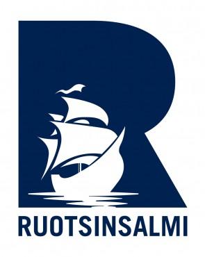 Ruotsinsalmi-logo laivalla